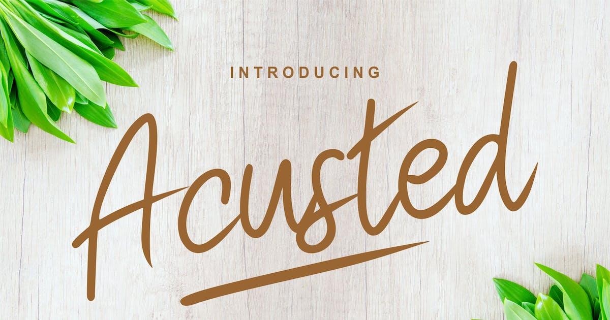 Download Acusted | Modern Script Font by Vunira