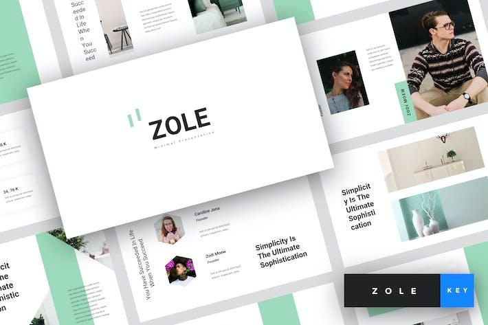 Thumbnail for Zole - Minimal Keynote Template