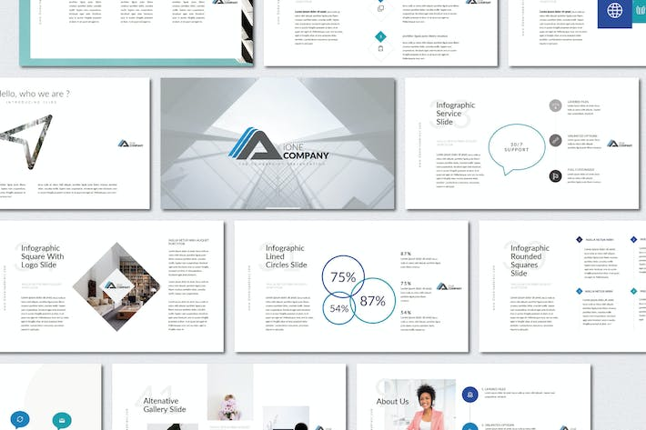 Thumbnail for iOne Business Pitch Deck | Keynote Templates