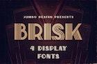 Brisk - ArtDeco Display Font