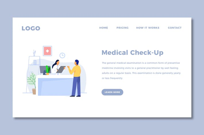 Thumbnail for Medical Landing Page Template