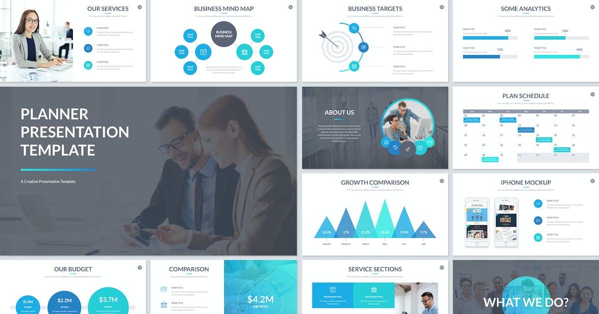 Download Planner Presentation PowerPoint Template by JafarDesigns