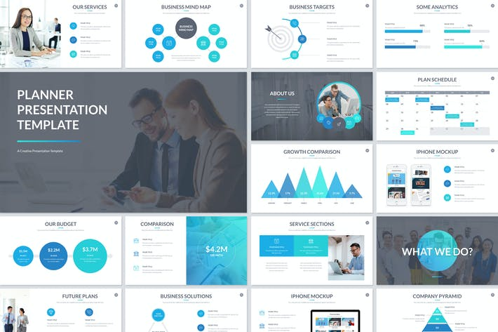 Download presentation templates envato elements thumbnail for planner presentation powerpoint template flashek