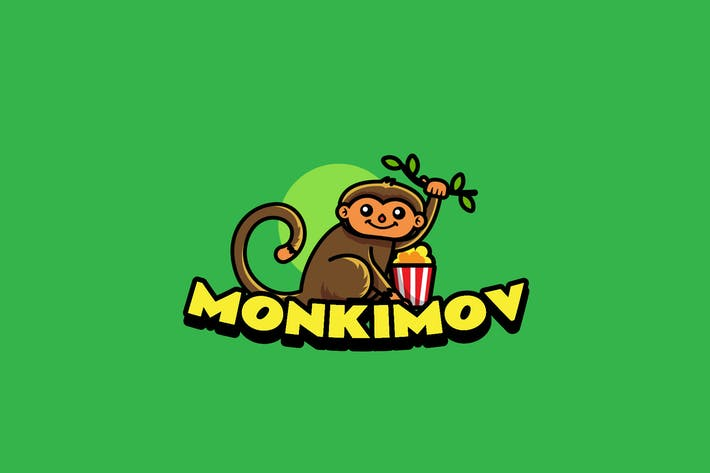 Thumbnail for Monkey Movie - Mascot Logo