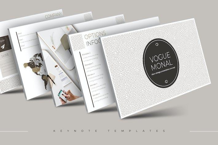 Thumbnail for Vogue Monal - Шаблон Keynote