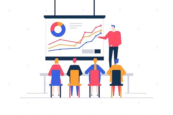 Thumbnail for Business presentation - flat design illustration