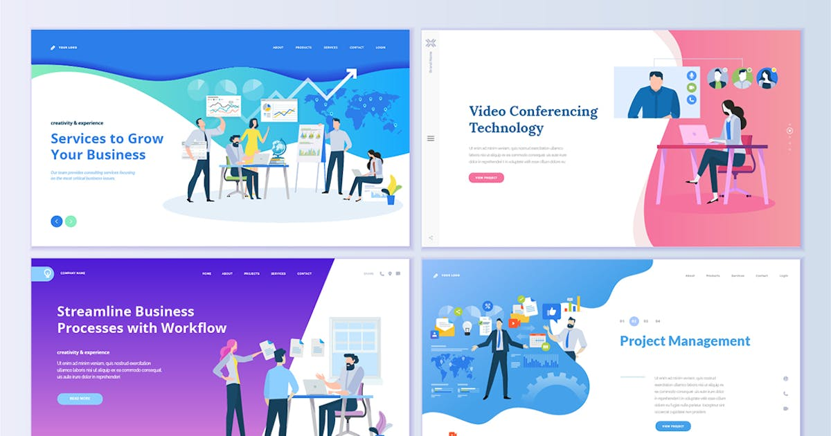 Download Web Page Design Templates by PureSolution