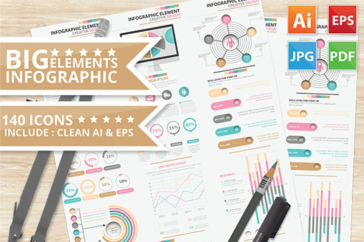 Cover Image For Big Infographic Elements Design