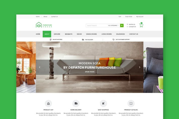 Thumbnail for FurnHome : Furniture Shop eCommerce PSD Template