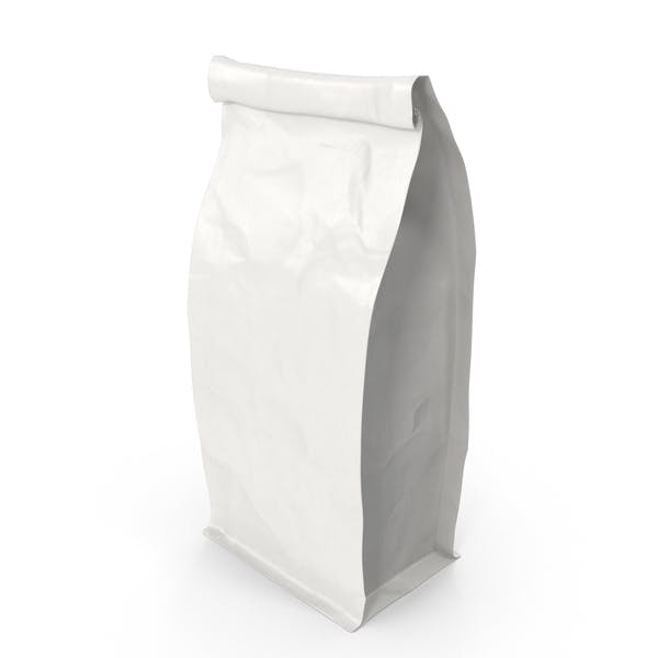 Thumbnail for Flat Bottom Pouch 250g Closed White