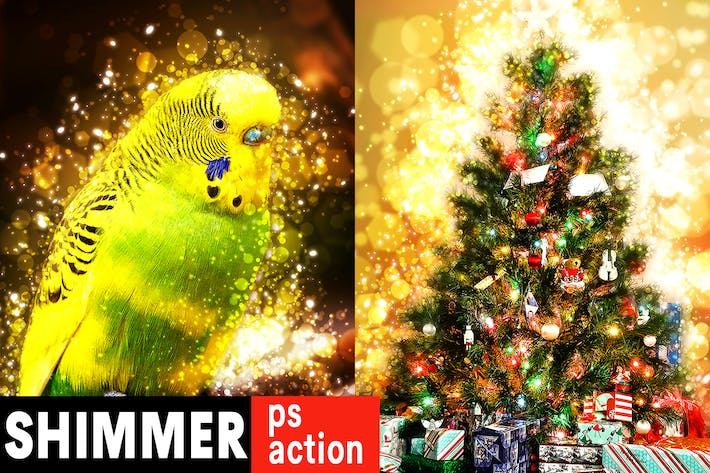 Thumbnail for Shimmer Photoshop Action