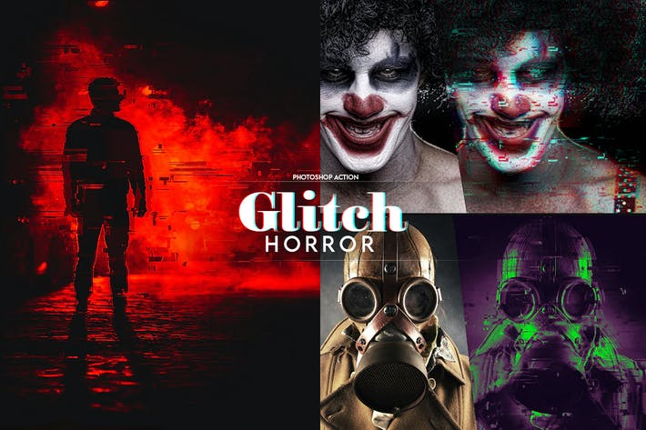 Thumbnail for Horror Glitch Photoshop Action