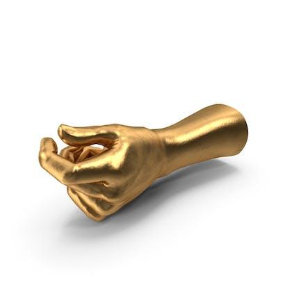 Golden Hand Pulgar Objeto Hold Pose
