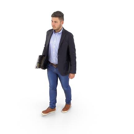 Hombre Caminando Negocios