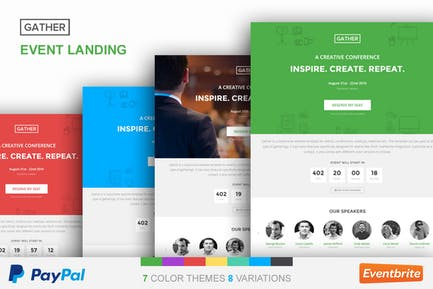 Event Landing Page Template - Gather
