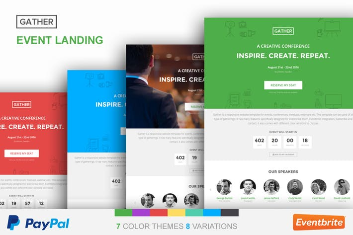 Thumbnail for Event Landing Page Template - Gather