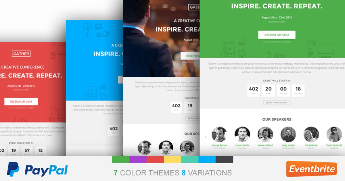 Download Event Landing Page Template - Gather by surjithctly