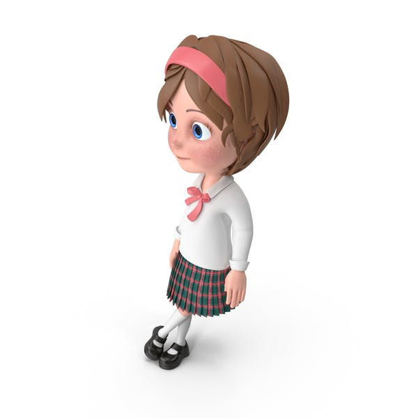 Thumbnail for Cartoon Girl Leaning On Wall