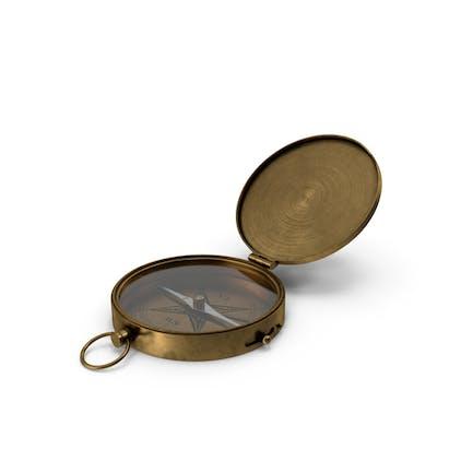 Antiker Taschen-Messing-Kompass