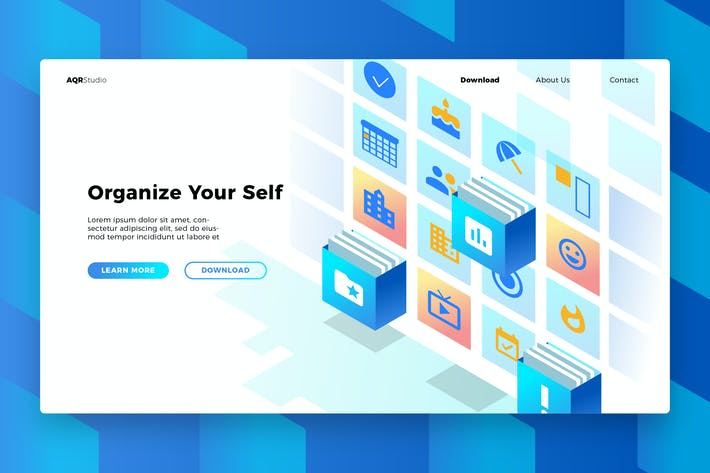 Thumbnail for Organizer App - Banner & Landing Page