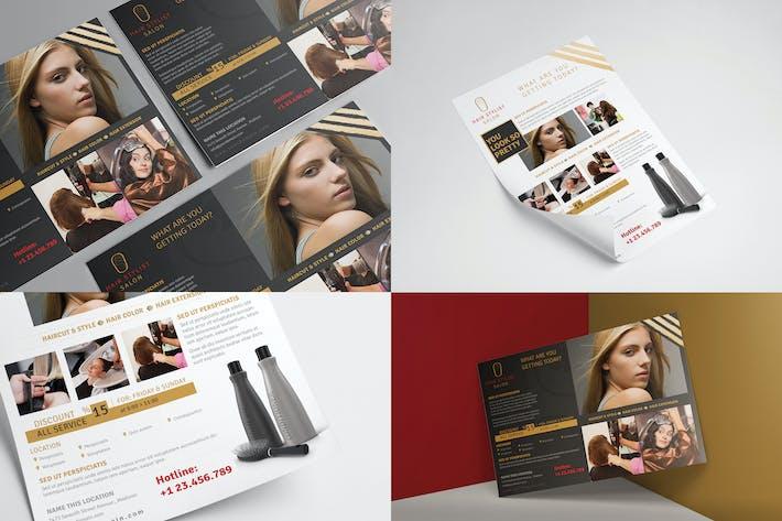 Hair Stylist & Salon/Flyer Vorlage