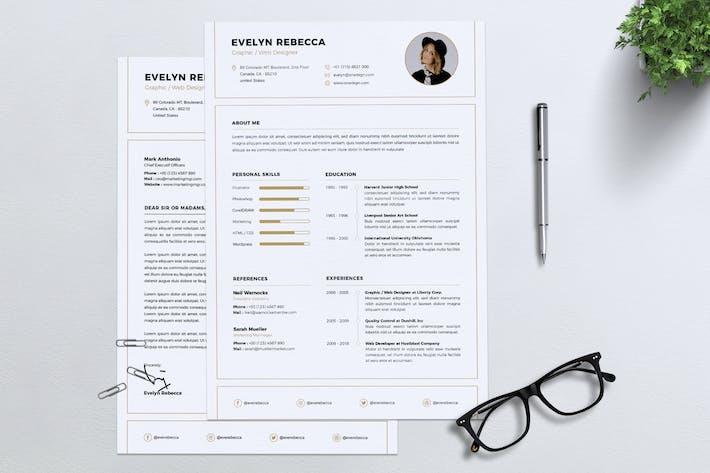 Thumbnail for Minimalist CV Resume Vol. 05