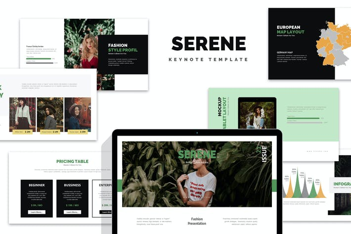 Thumbnail for Serene : Nature Fashion Style Lookbook Keynote