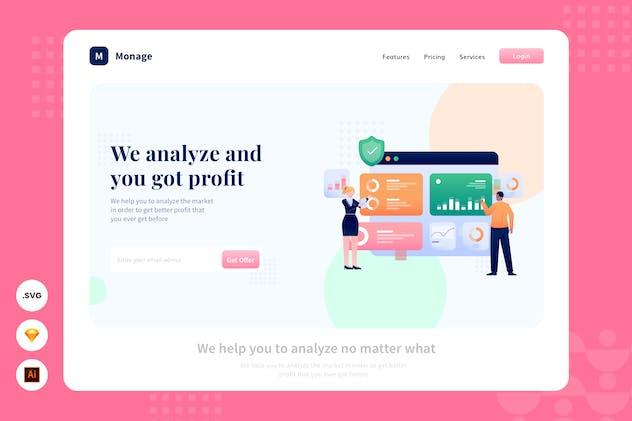 Market Potential - Website Header - Illustration - product preview 1