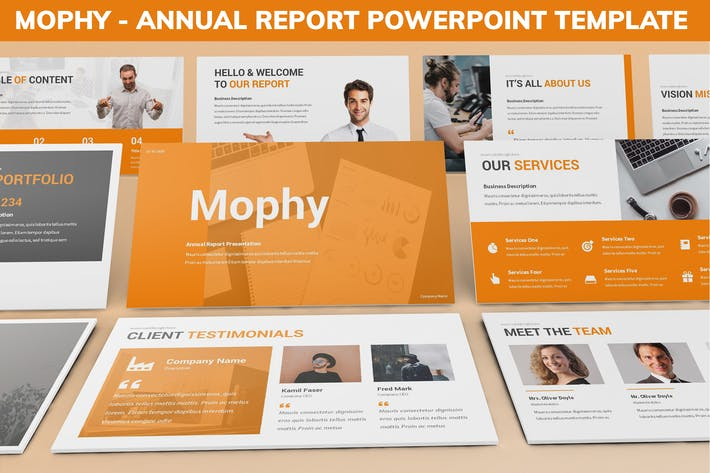 Cover Image For Mophy - Annual Report Powerpoint Template