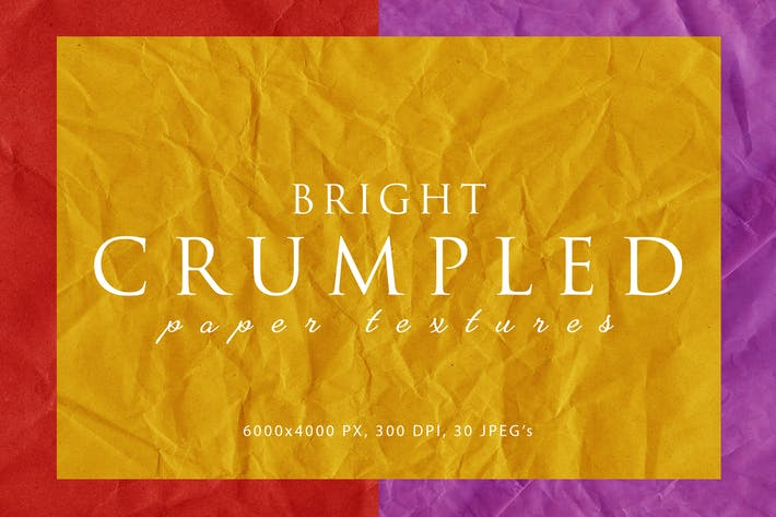 Thumbnail for Bright Crumpled Paper Textures 1