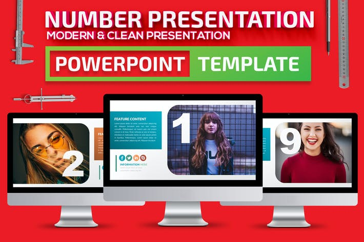 Thumbnail for Number Powerpoint Presentation Template