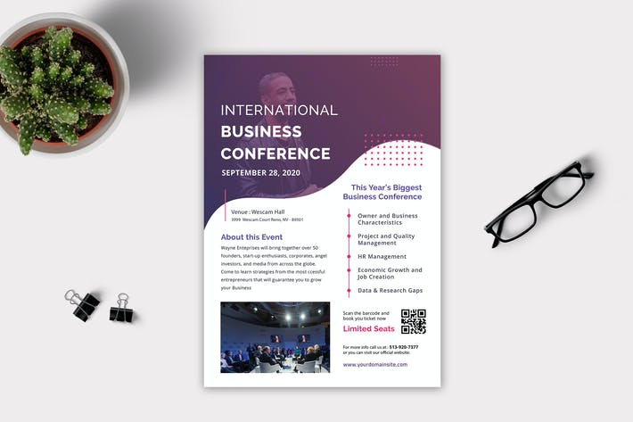 Cover Image For Business Conference Flyer