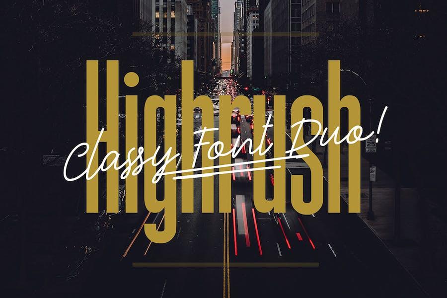 Highrush - Font Duo