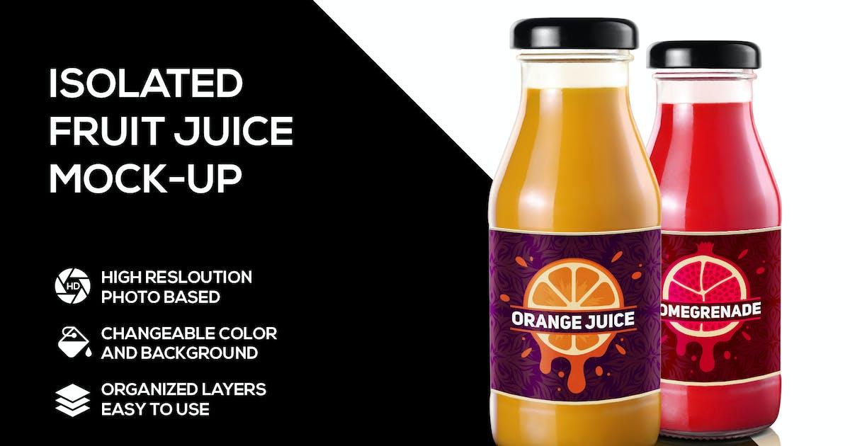 Download Fruit juice bottle mockup by Scredeck