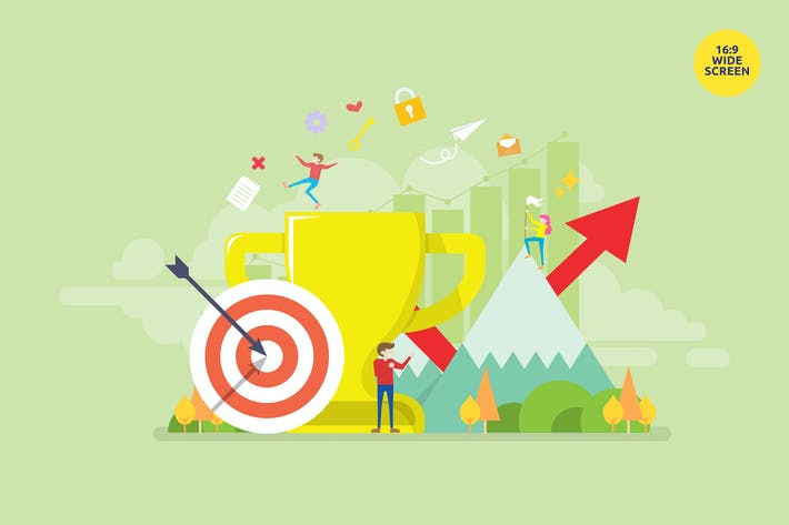 Thumbnail for Business Goal Achievement Vector Concept