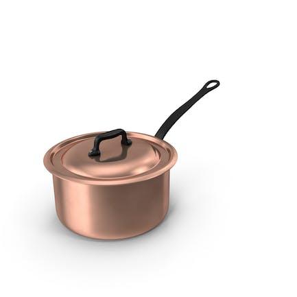 Kupfer-Kasserolle, 5 qt