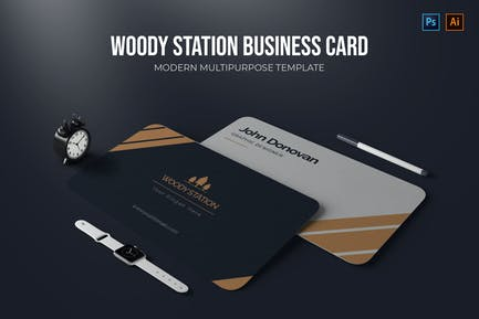 Woody Station - Business card