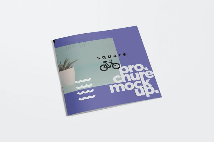 Cover Image For Square Brochure Mockups