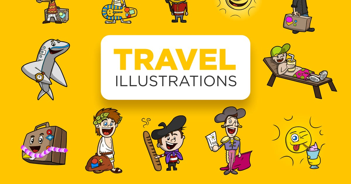 Download Travel Illustrations by RZDESIGN