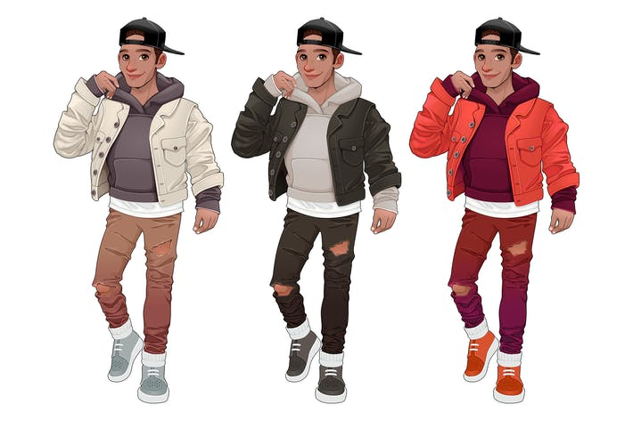 Thumbnail for Fashion Boy in Three Different Versions