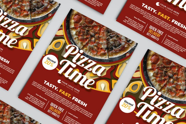 Pizza Time Restaurant Flyer Template