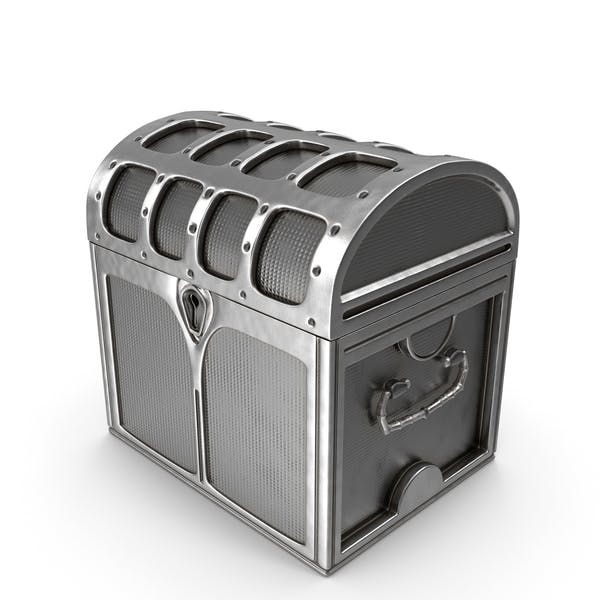 Small Silver Chest Locked
