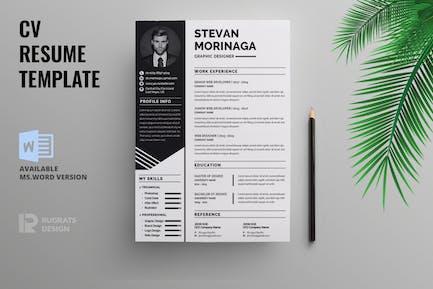 Minimalist CV  Resume R30 Template