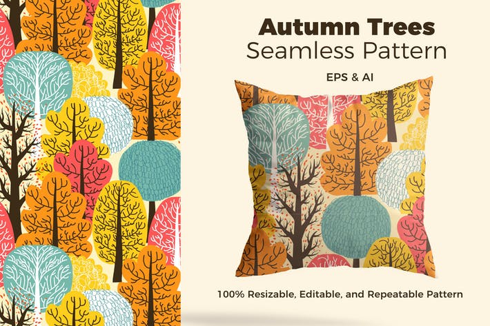 Thumbnail for Autumn Trees Pattern