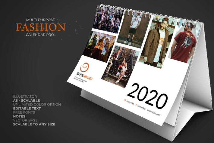 2020 Fashion Kalender Schreibtisch Pro