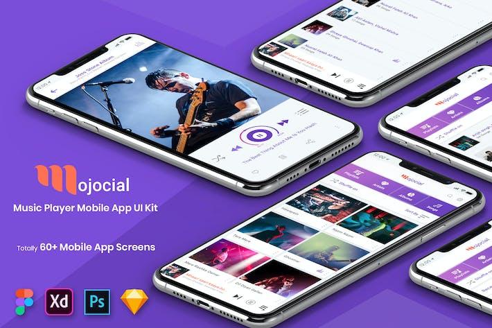Thumbnail for Mojocial - Music Player Mobile App UI Kit