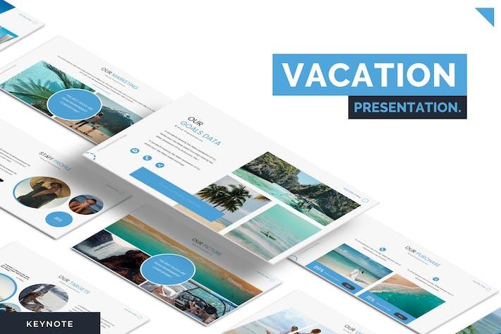 Отпуск - Шаблон Keynote