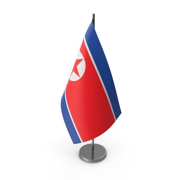 Table Flag North Korea