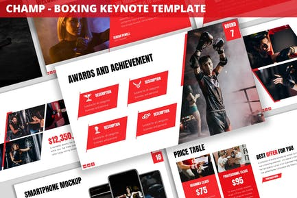 Champ - Boxing Keynote Template