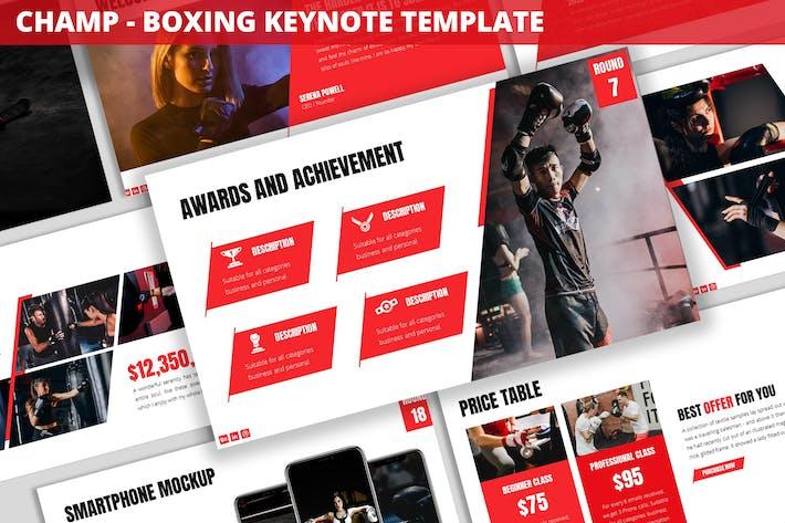Thumbnail for Champ - Boxing Keynote Template